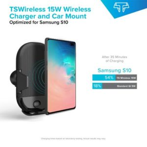Techsmarter 15W Qi-Wireless Car Charger